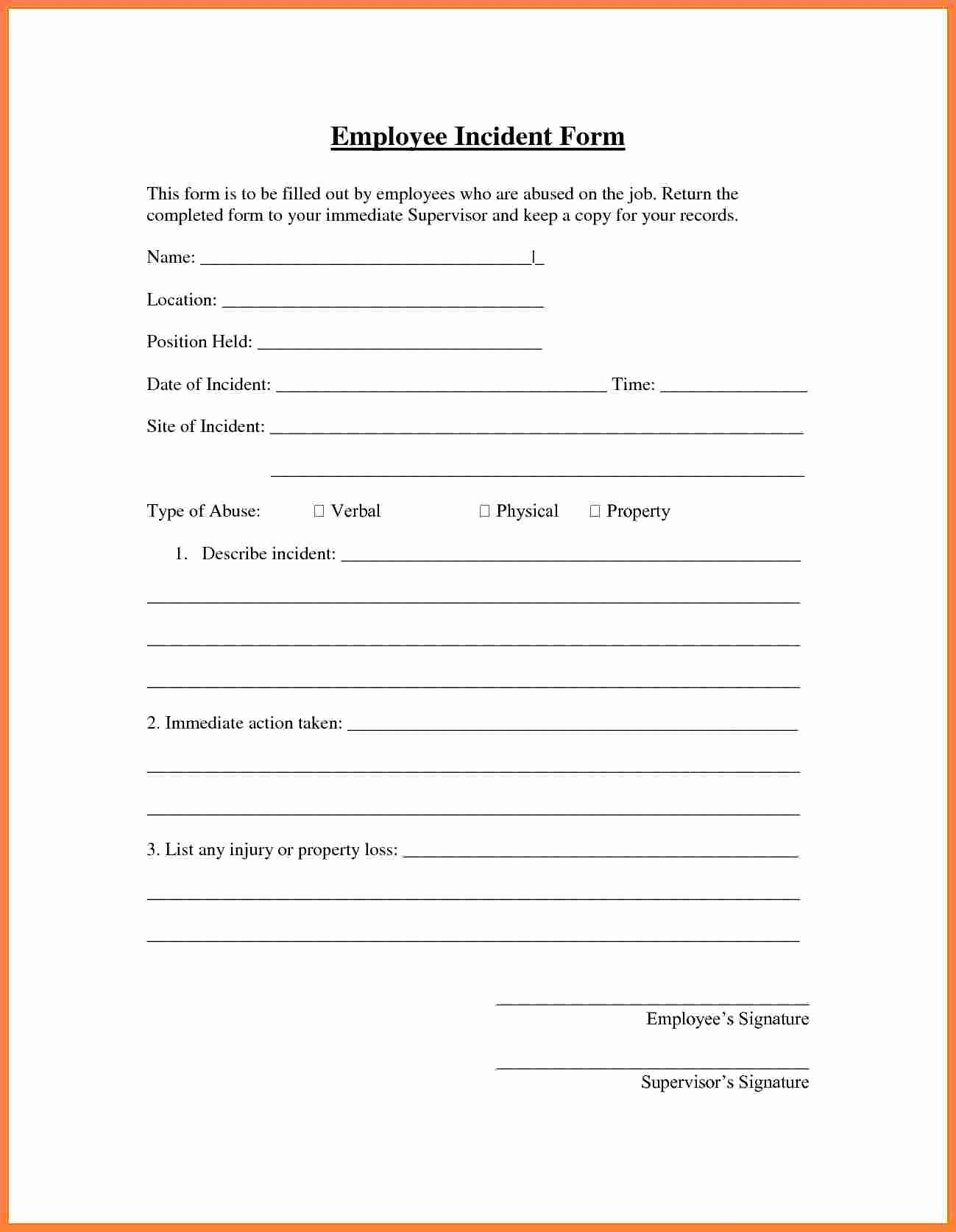 6 Employee Accident Report form Template