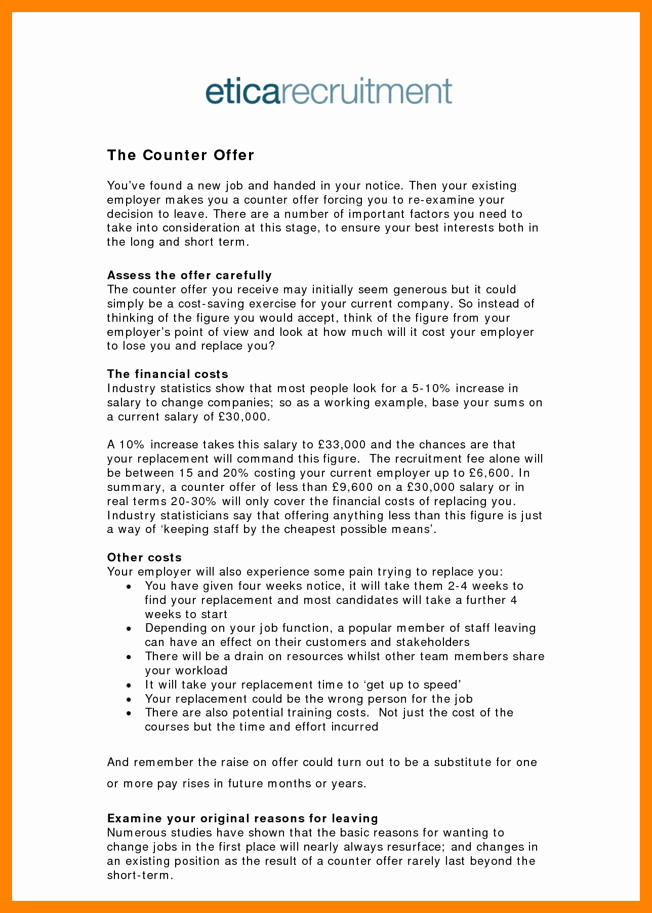 6 Example Of Counter Offer Letter Salary