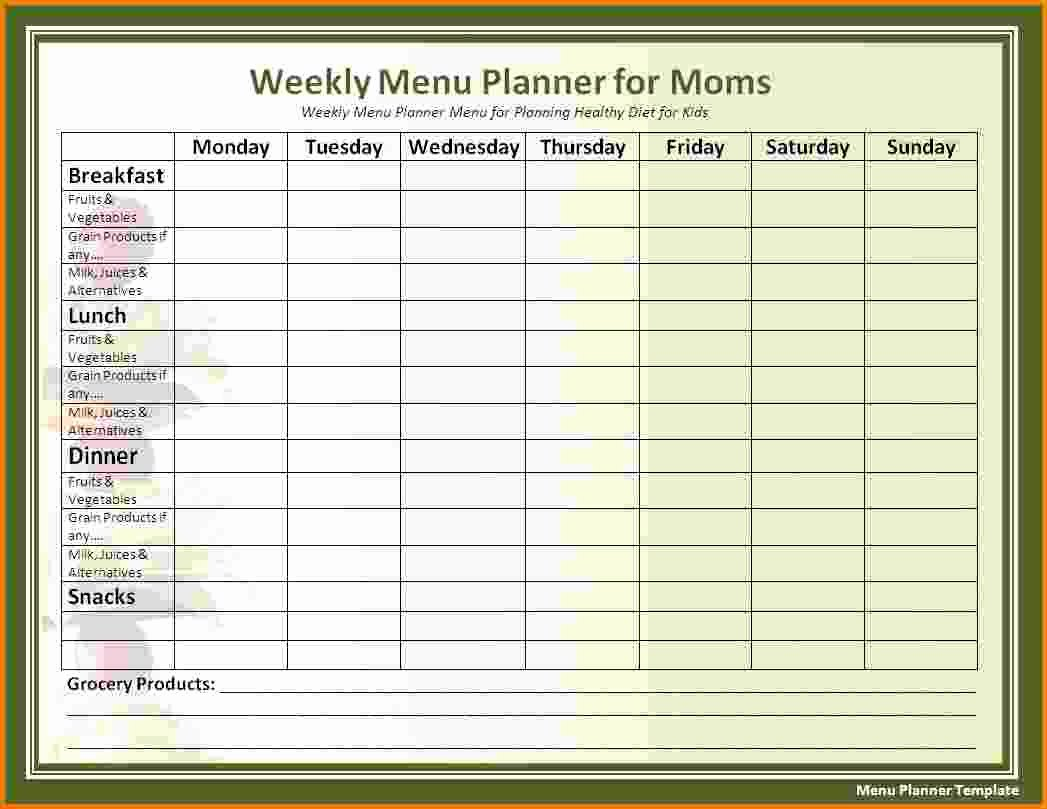 6 Family Daily Schedule Template