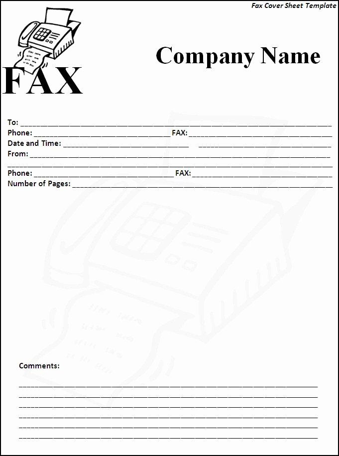 6 Fax Cover Sheet Templates Excel Pdf formats