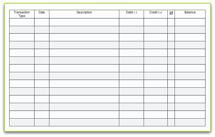 6 Free Blank Business Checkbook Register Template Excel