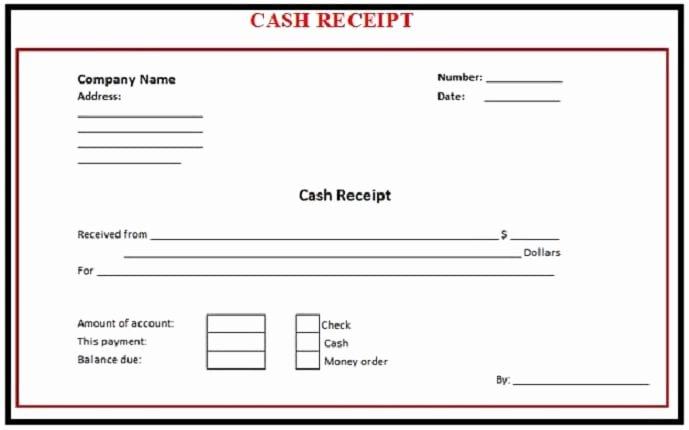 6 Free Cash Receipt Templates Excel Pdf formats