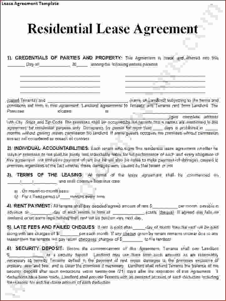 6 Free Lease Agreement Template Wordreport Template