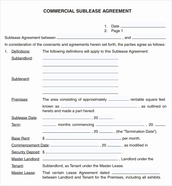 6 Free Mercial Lease Agreement Templates Excel Pdf