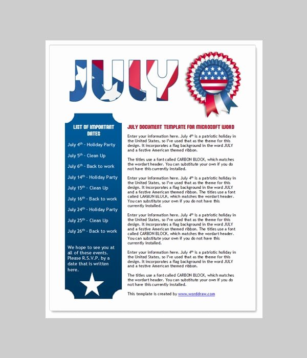 6 Free Newsletter Word Templates Excel Pdf formats