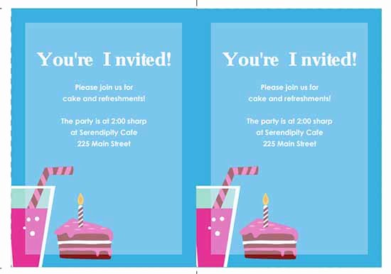 6 Free Party Invitation Templates Excel Pdf formats
