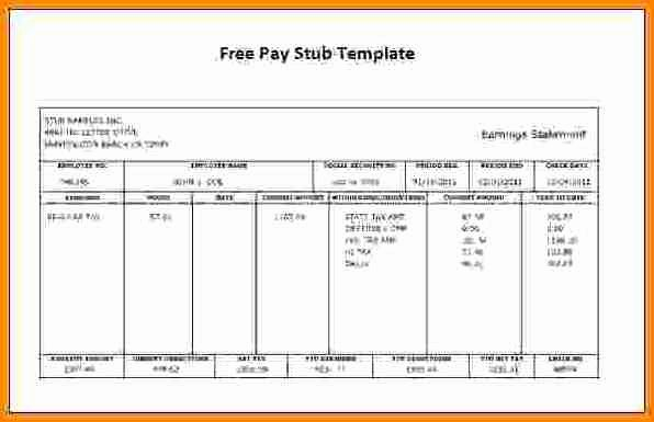 6 Free Payroll Check Stub Template