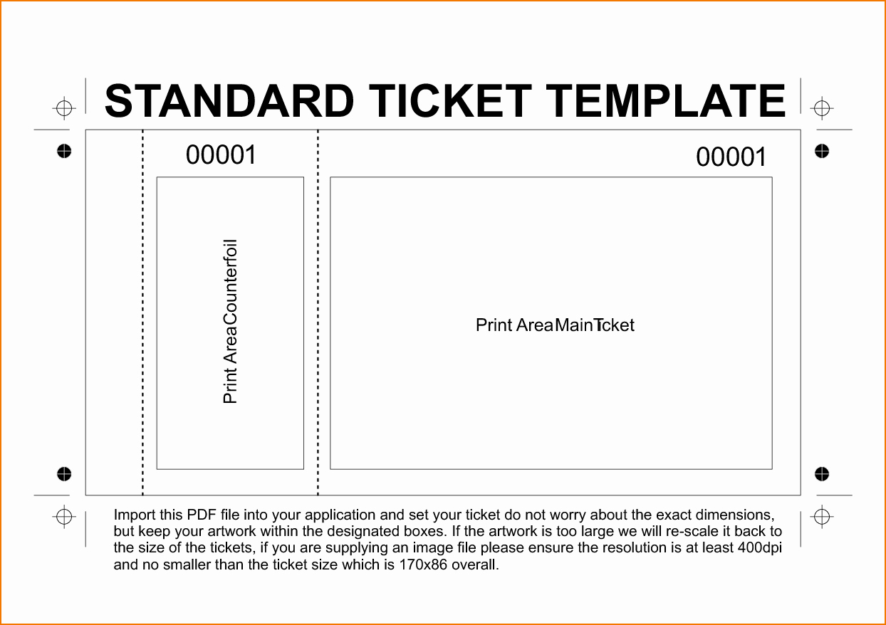 6 Free Printable Raffle Tickets Template