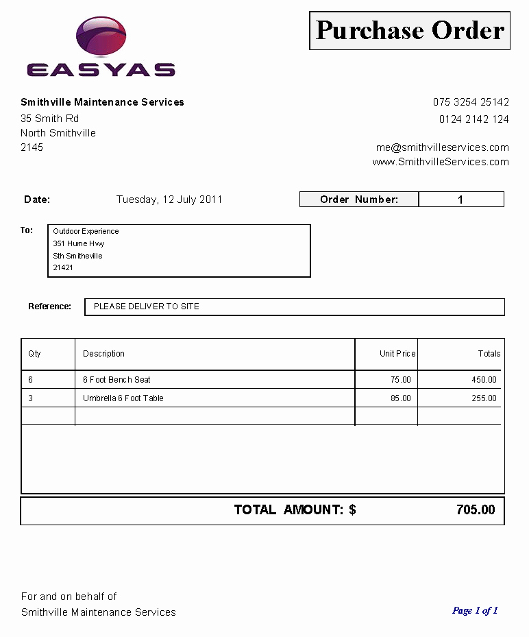 6 Free Purchase order Templates Excel Pdf formats