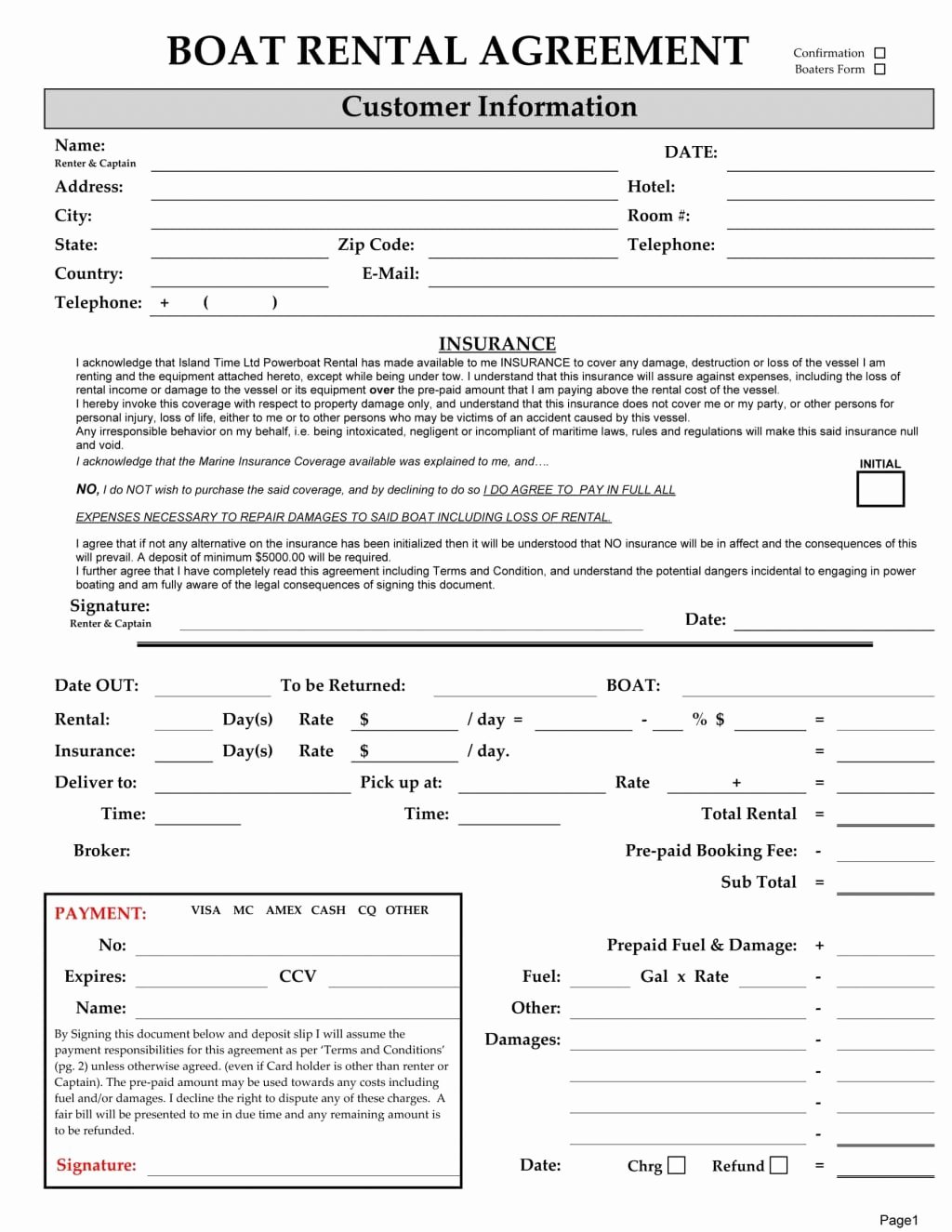 6 Free Rental Agreement Templates Excel Pdf formats