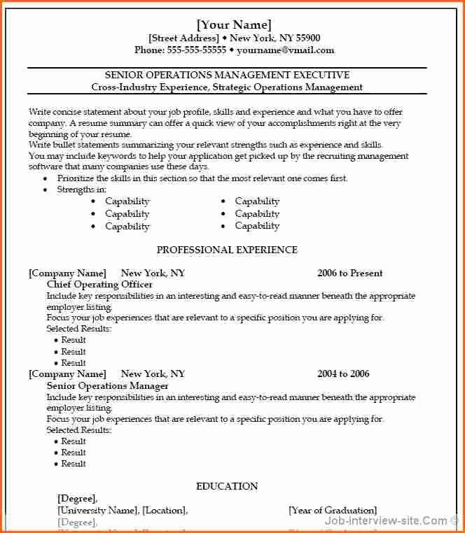 6 Free Resume Templates Microsoft Word 2007 Bud