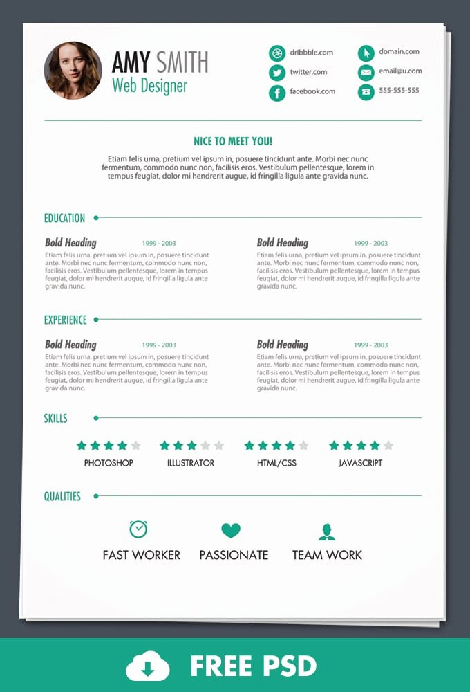 6 Free Resume Templates Word Excel Pdf Templates