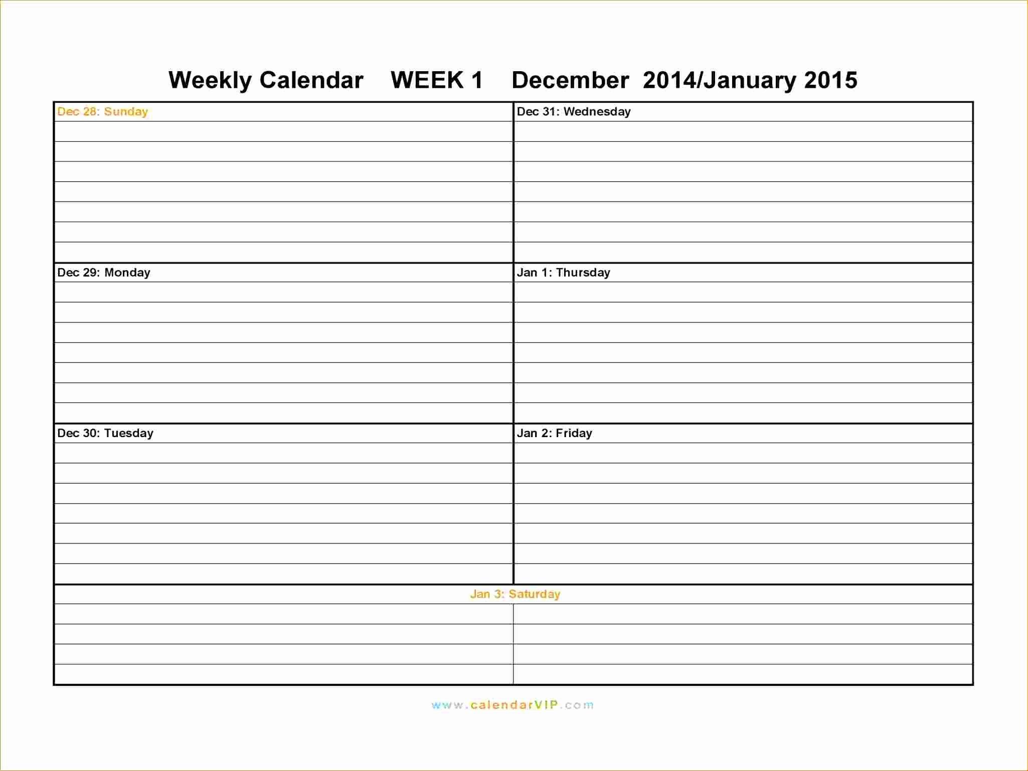 6 Free Weekly Planner