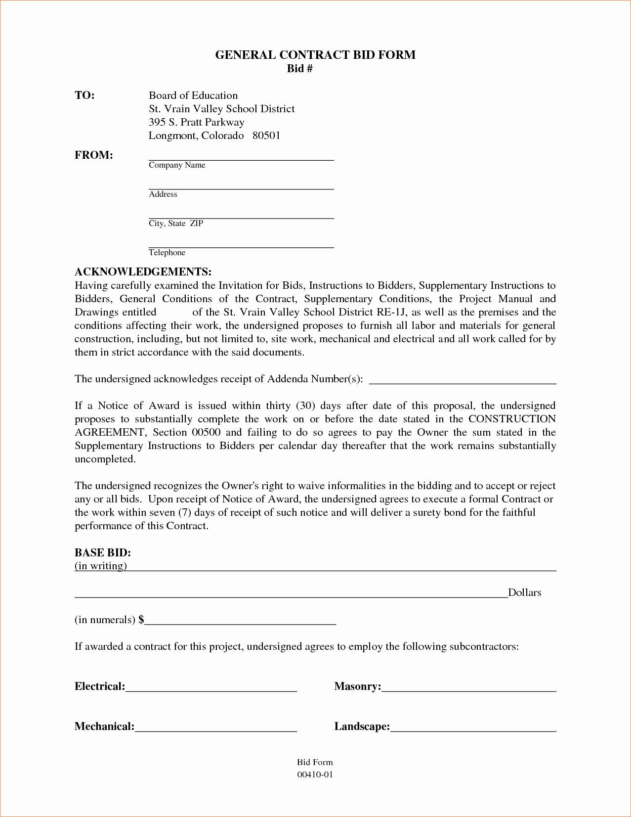 6 General Contractor Contract Templatereport Template