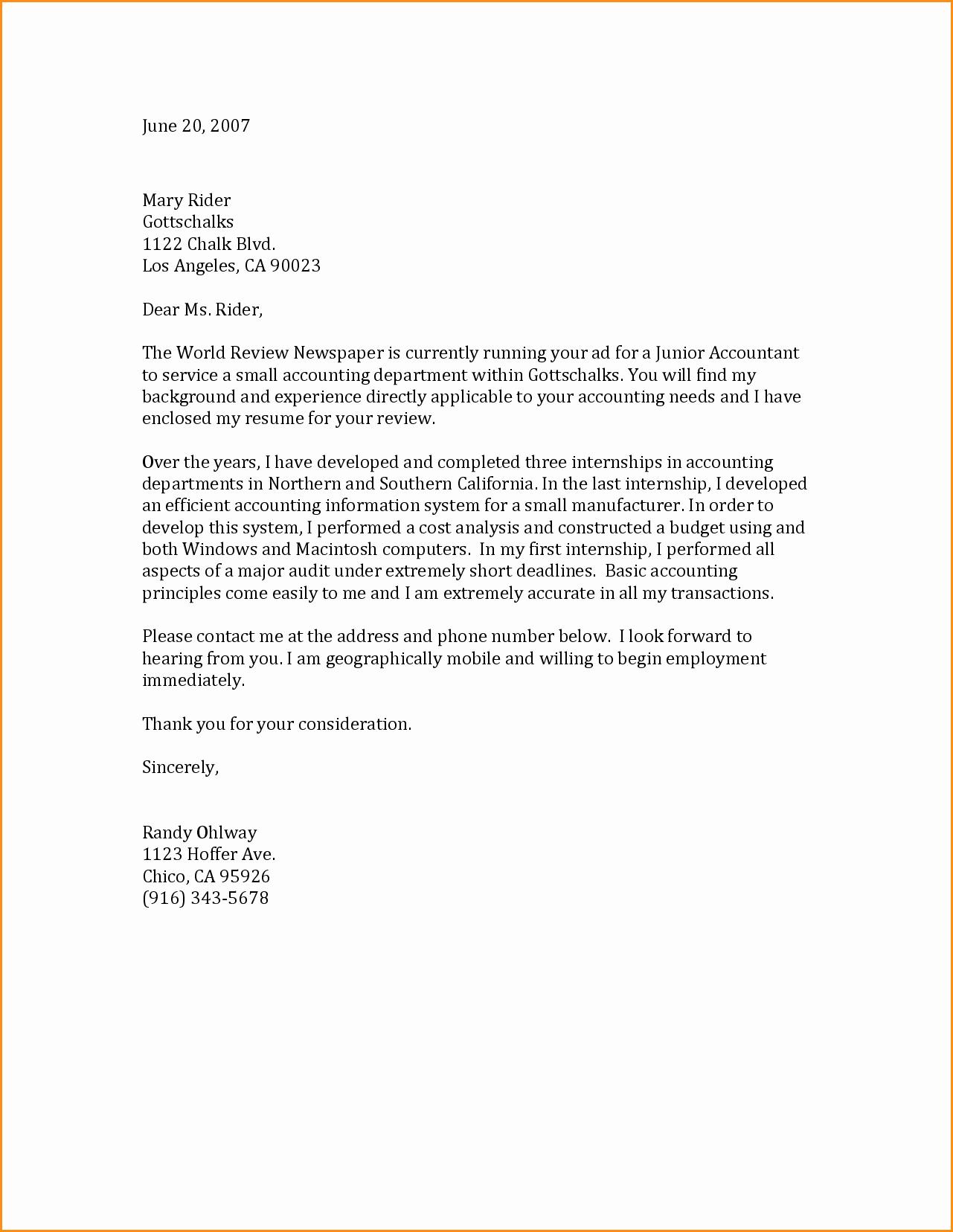 6 General Cover Letter Samples