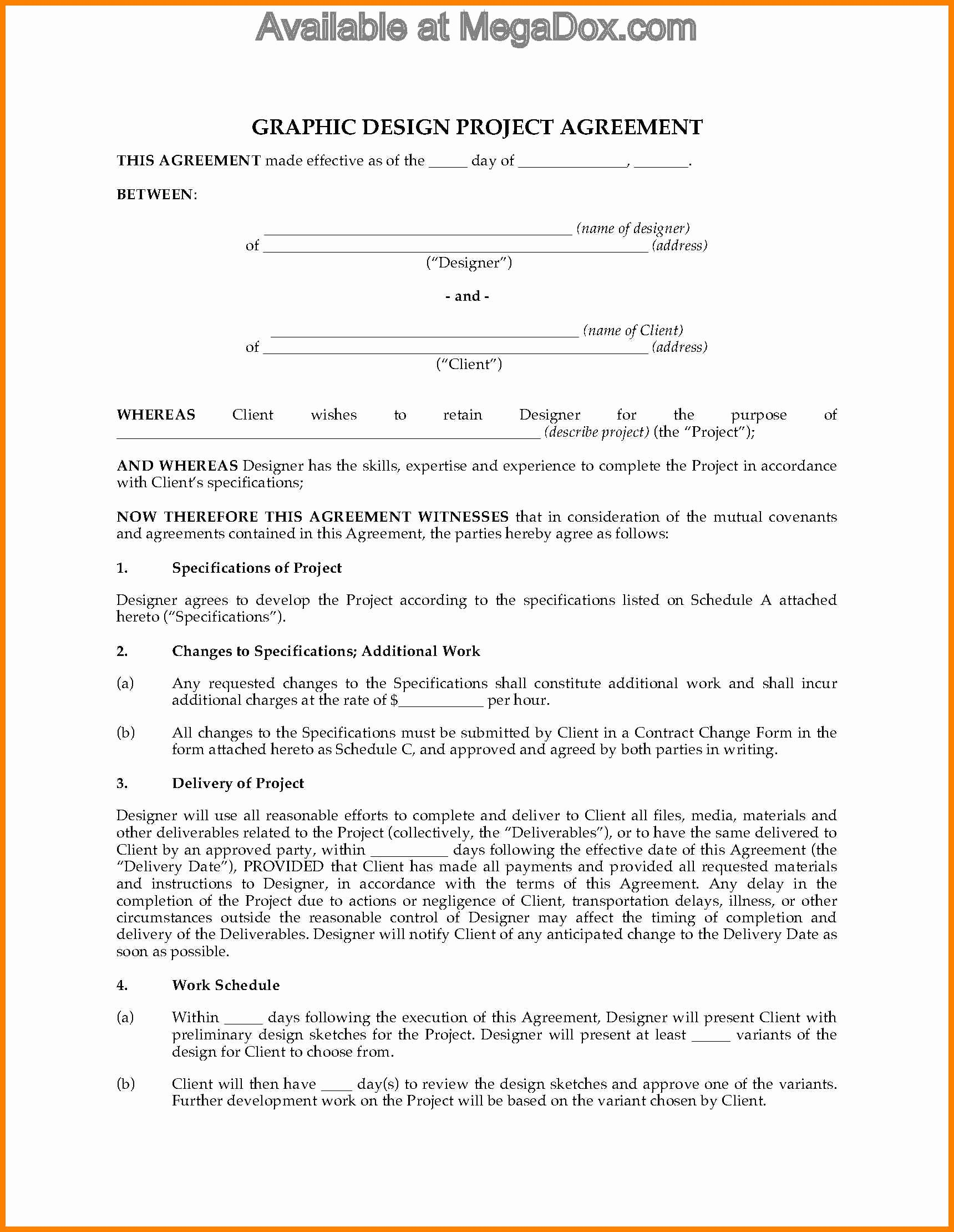 6 graphic design contract template