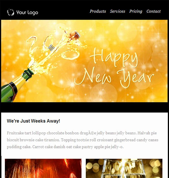 6 Happy New Year Email Templates Website Wordpress Blog