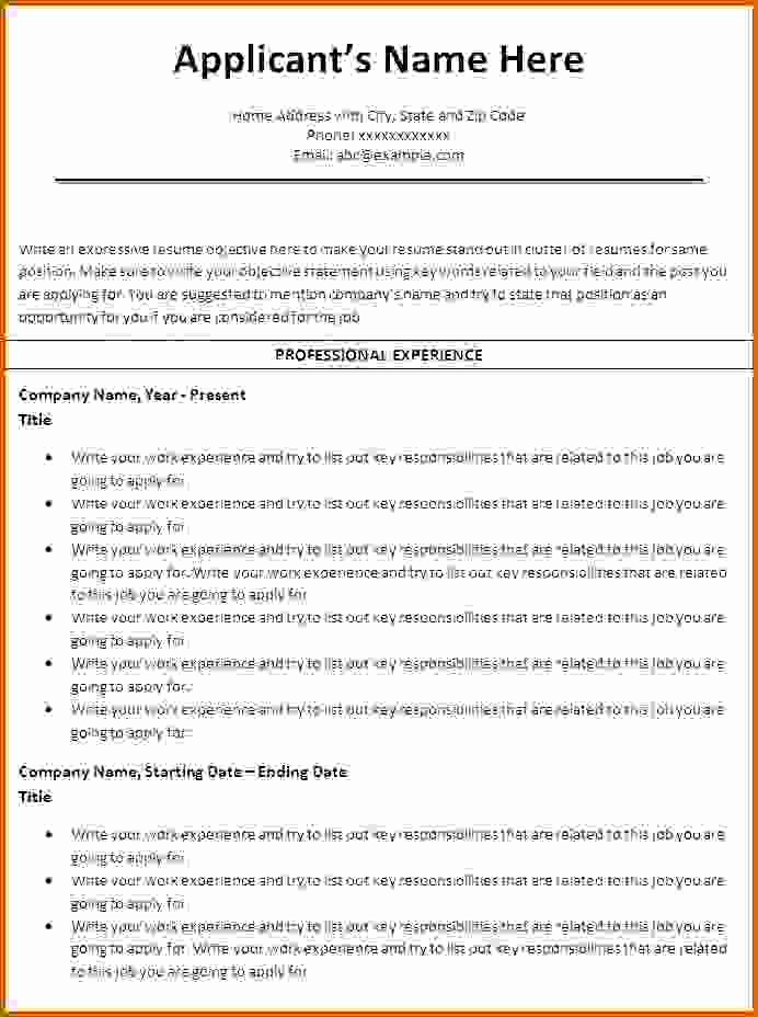 6 How to Make A Resume On Word 2010