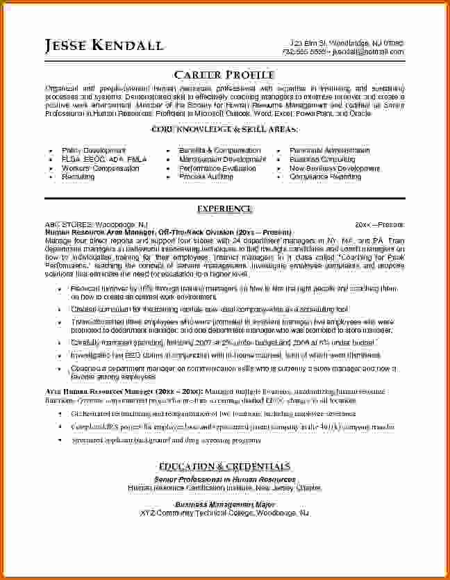 6 Human Resources Manager Resume