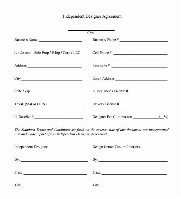 6 Interior Designer Contract Templates – Free Word Pdf