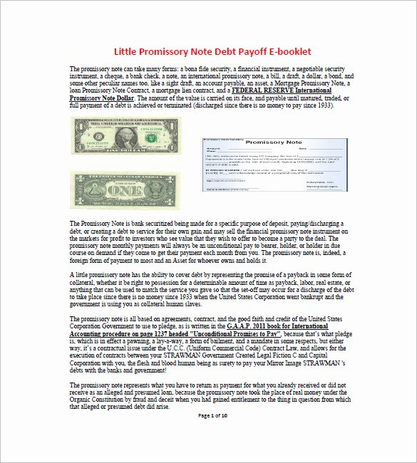 6 International Promissory Note Free Word Excel Pdf