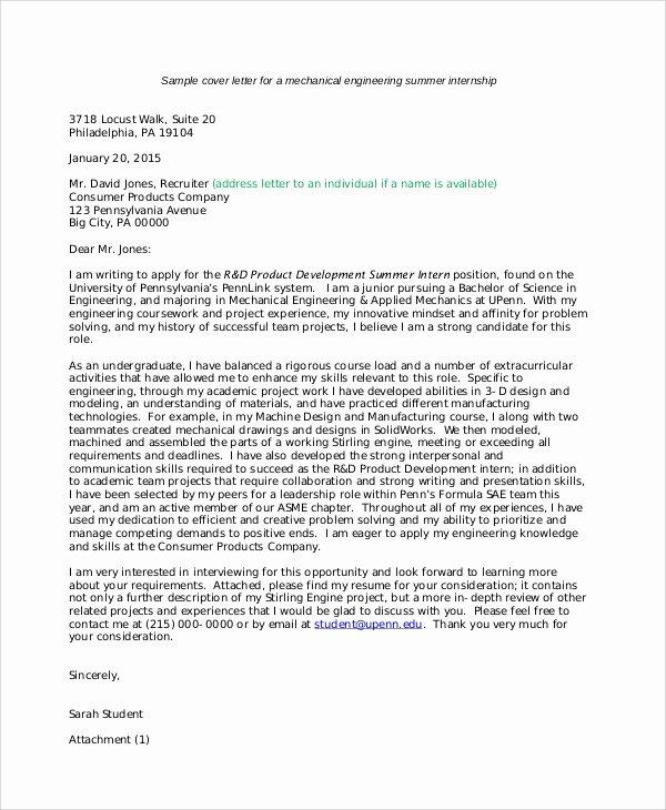 6 Internship Letter Of Intent Samples