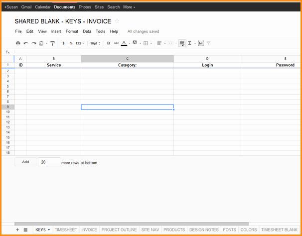 6 Invoice Template Google Docs