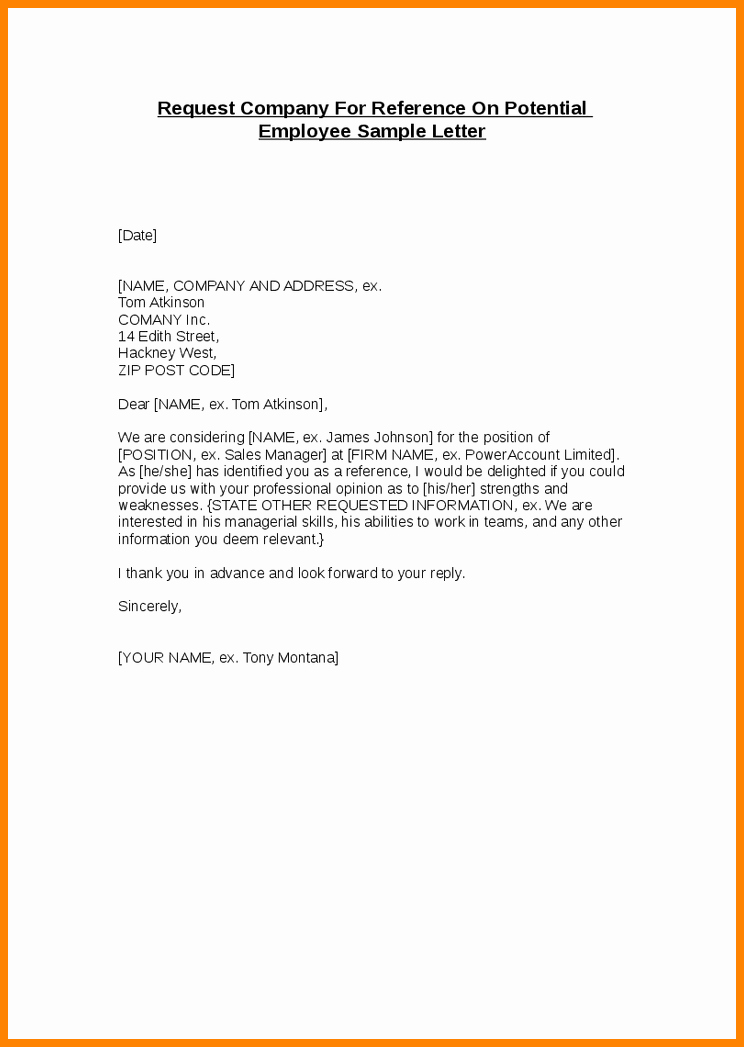 6 Job Reference Letter for Employee