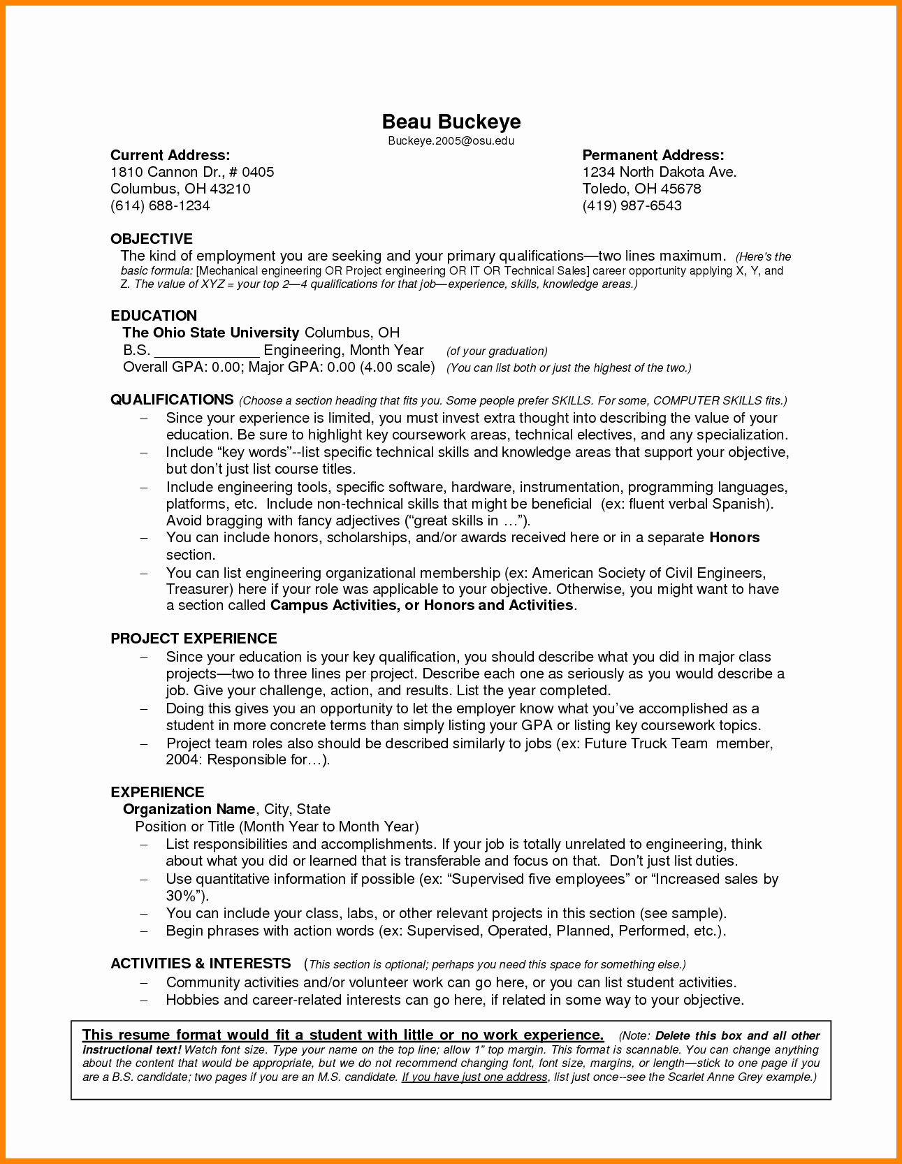 6 Job Resume Examples No Experience