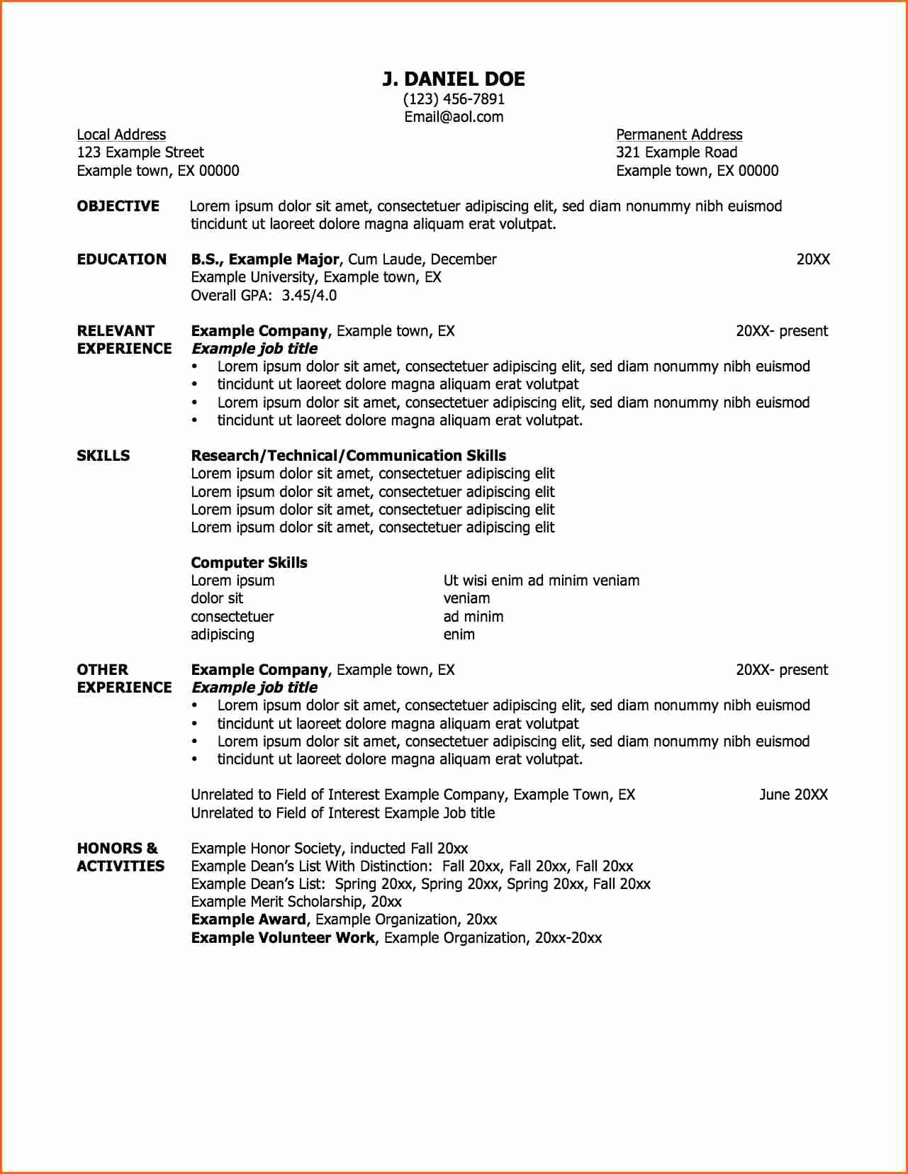 6 Job Resume Samples Bud Template Letter