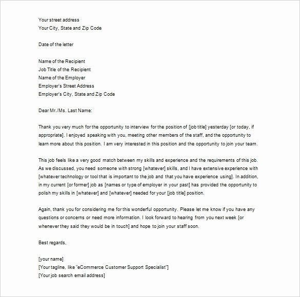 6 Job Thank You Letters Doc Pdf