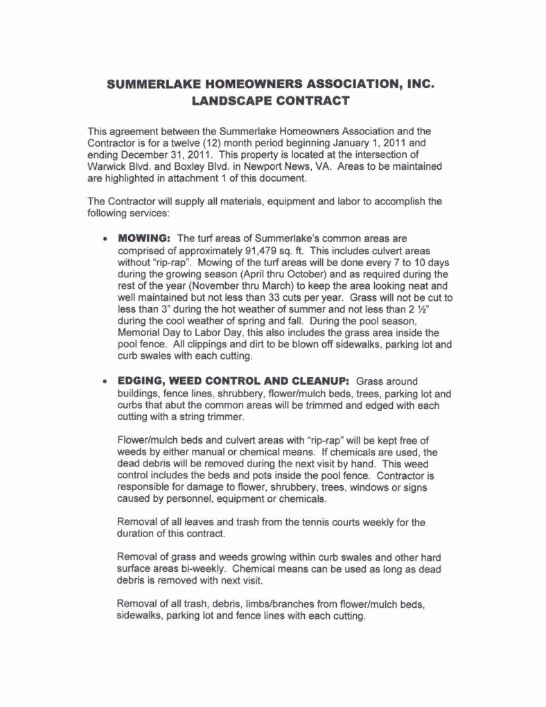 6 Landscaping Services Contract Templates Pdf