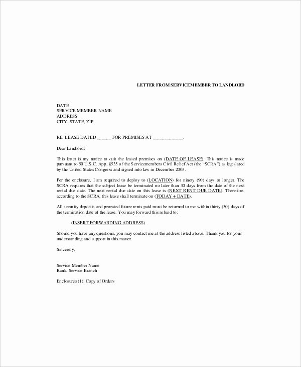 6 Lease Termination Templates Free Sample Example