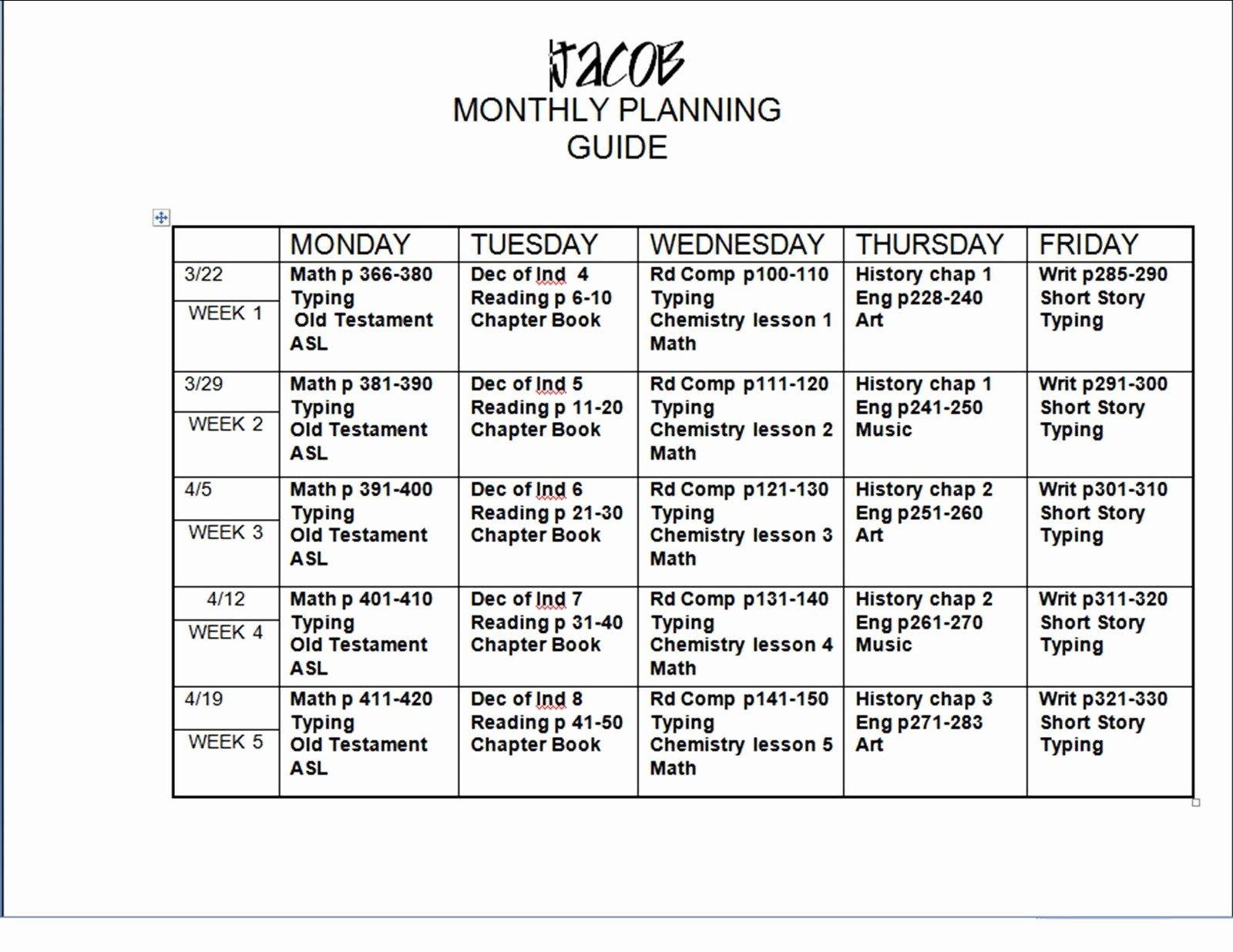 6 Lesson Plan Templates Excel Pdf formats