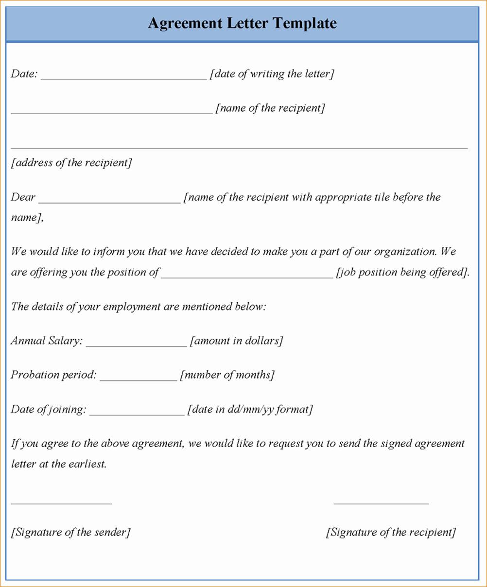 6 Letter Agreement Samples