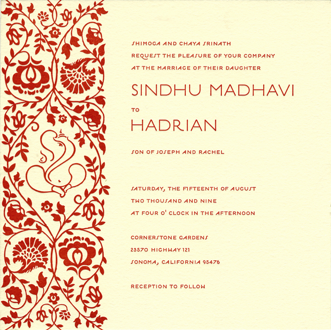 6 Lovely Hindu Wedding Card Invitation Templates
