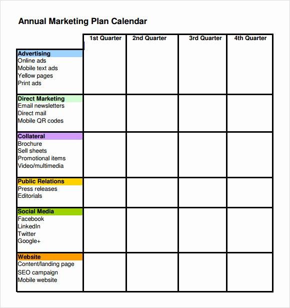 6 Marketing Schedule Templates