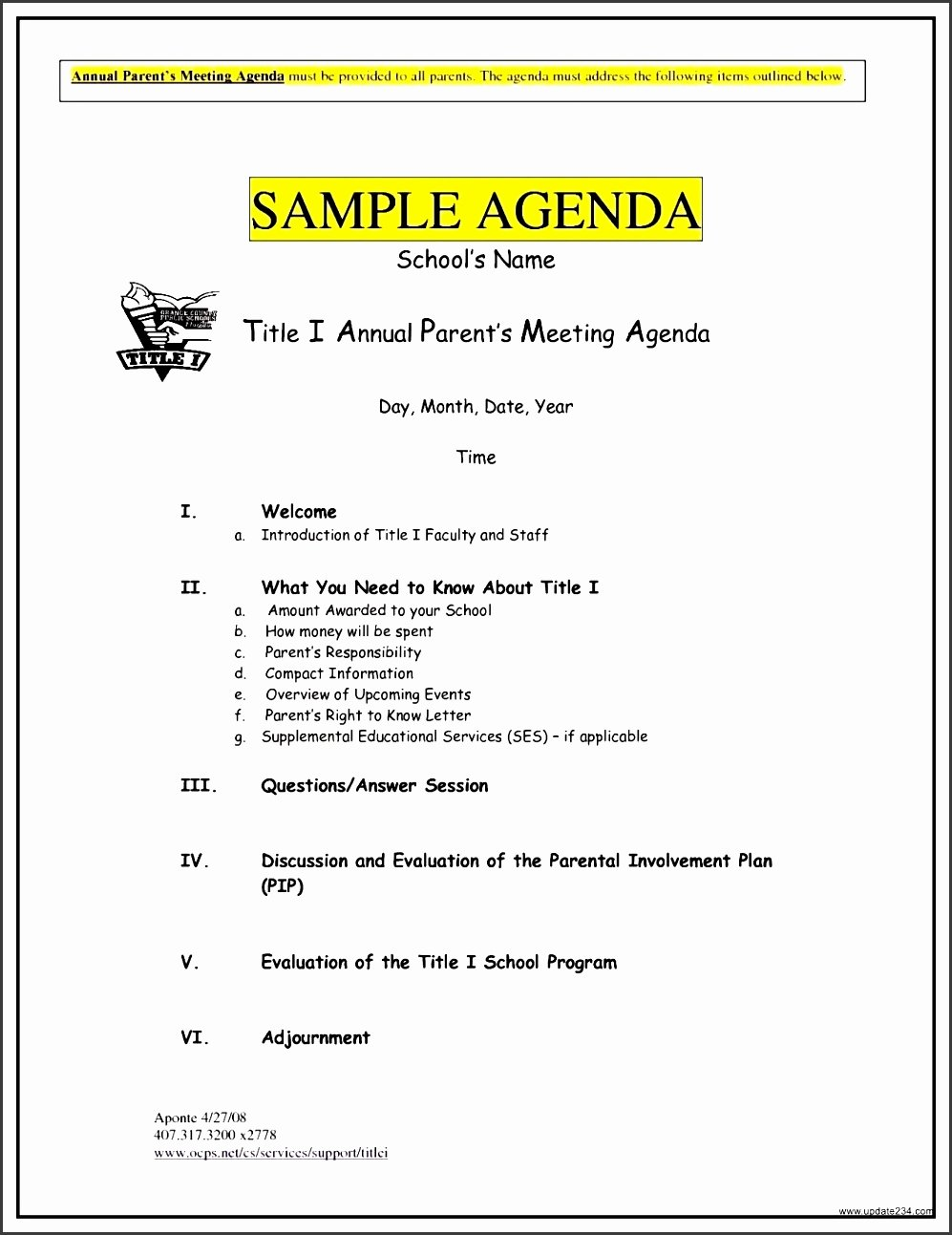 6 Meeting Agenda Templates Sampletemplatess