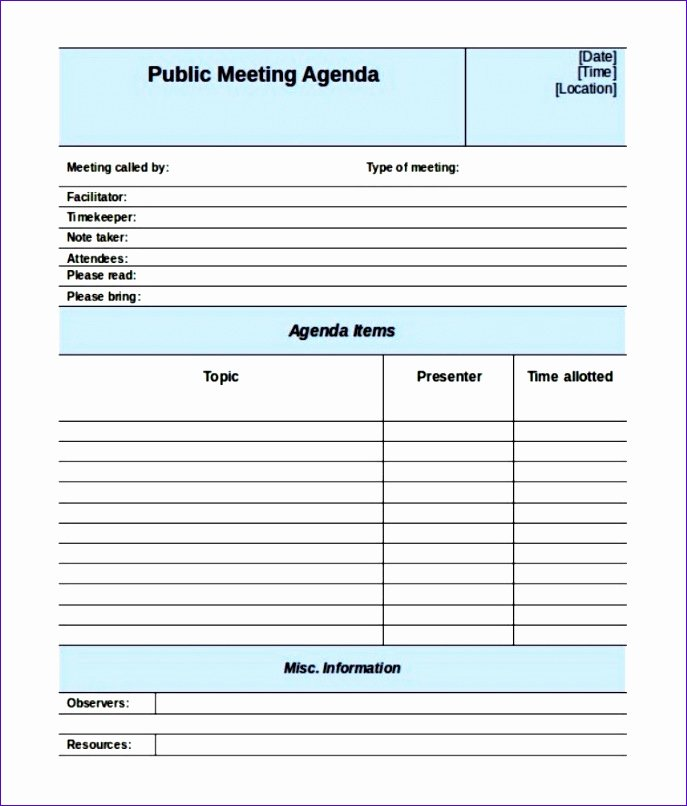 6 Meeting Minutes Template Excel Exceltemplates