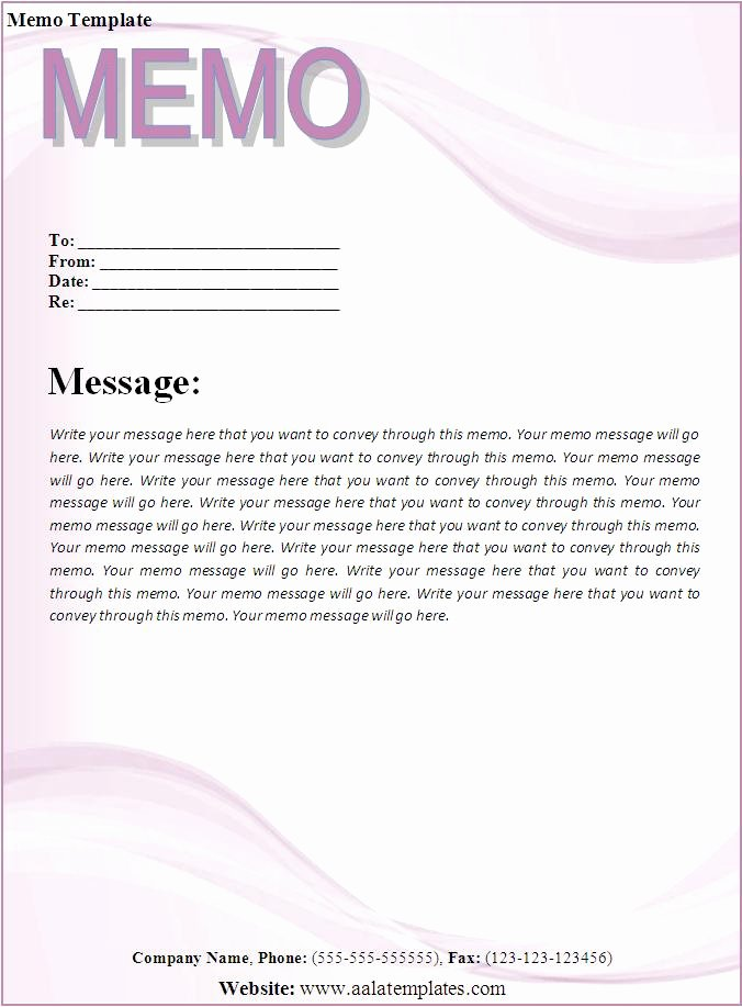 6 Memo Templates Word Excel Pdf Templates