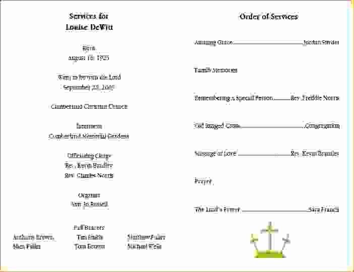 6 Memorial Program Templateagenda Template Sample