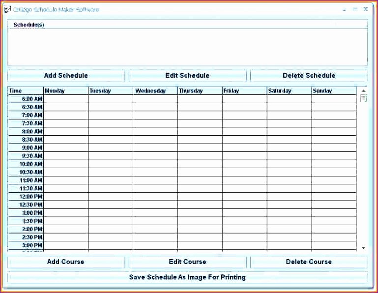 6 Microsoft Excel Employee Schedule Template