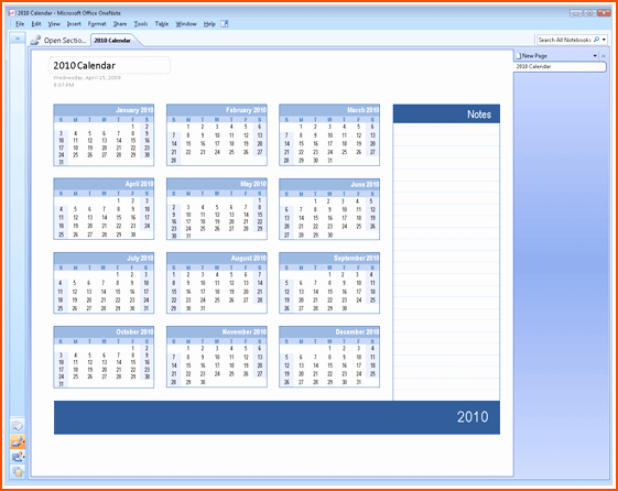 6 Microsoft Office Calendar Templates Bookletemplate