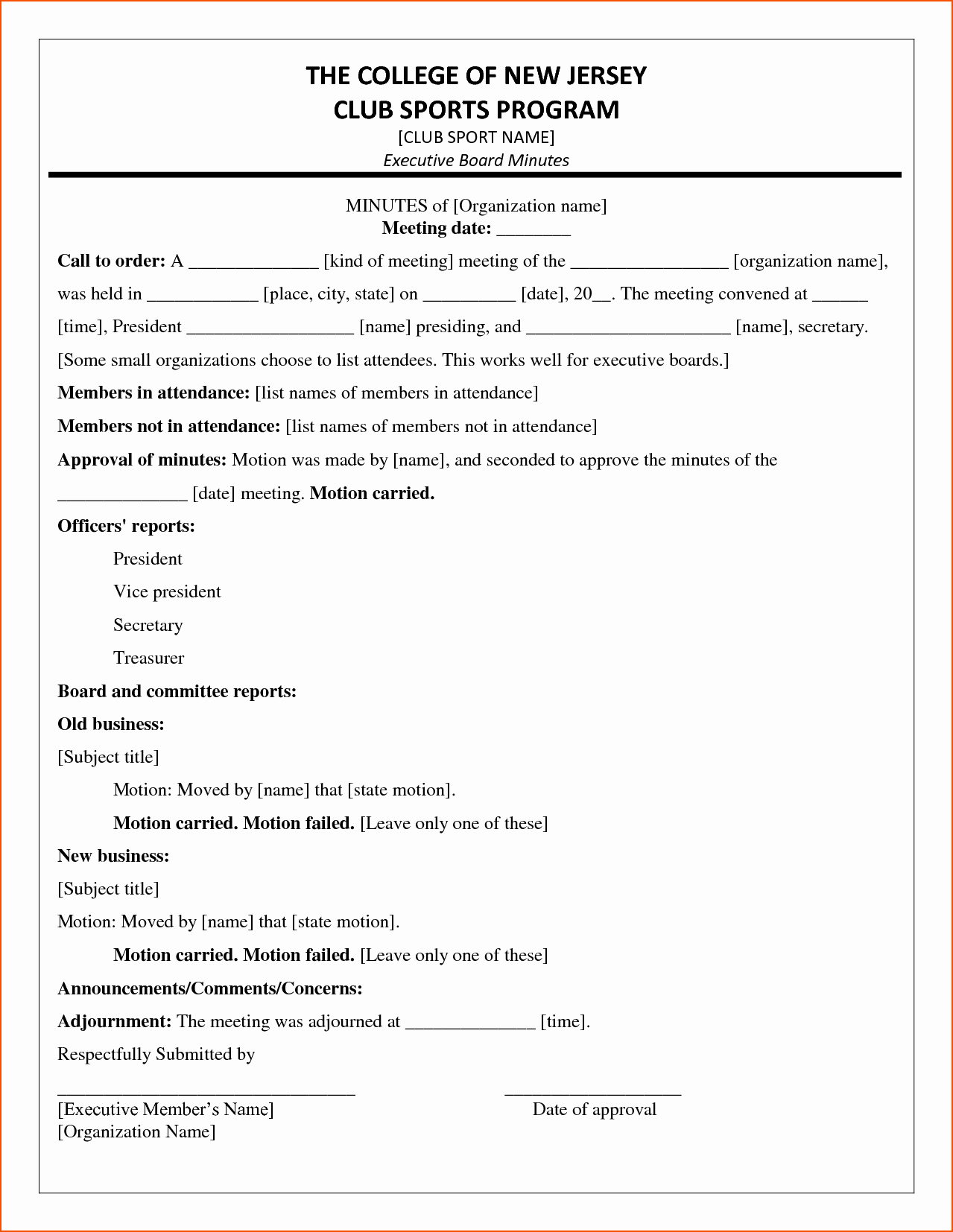 6 Minutes Of the Meeting Template Bookletemplate