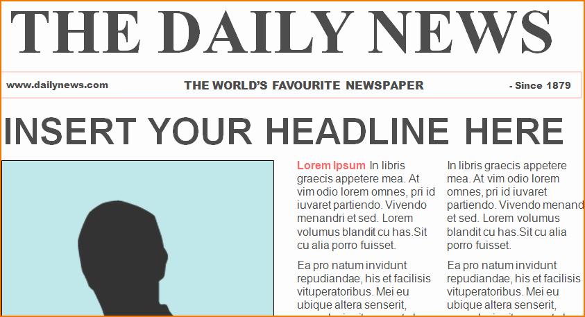 6 Newspaper Template Word