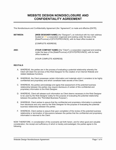 6 Non Disclosure Agreement Templates Excel Pdf formats