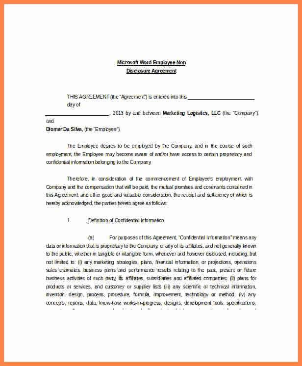 6 Non Disclosure Non Circumvention Agreement