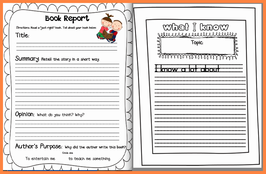 6 Non Fiction Book Report Template Middle School