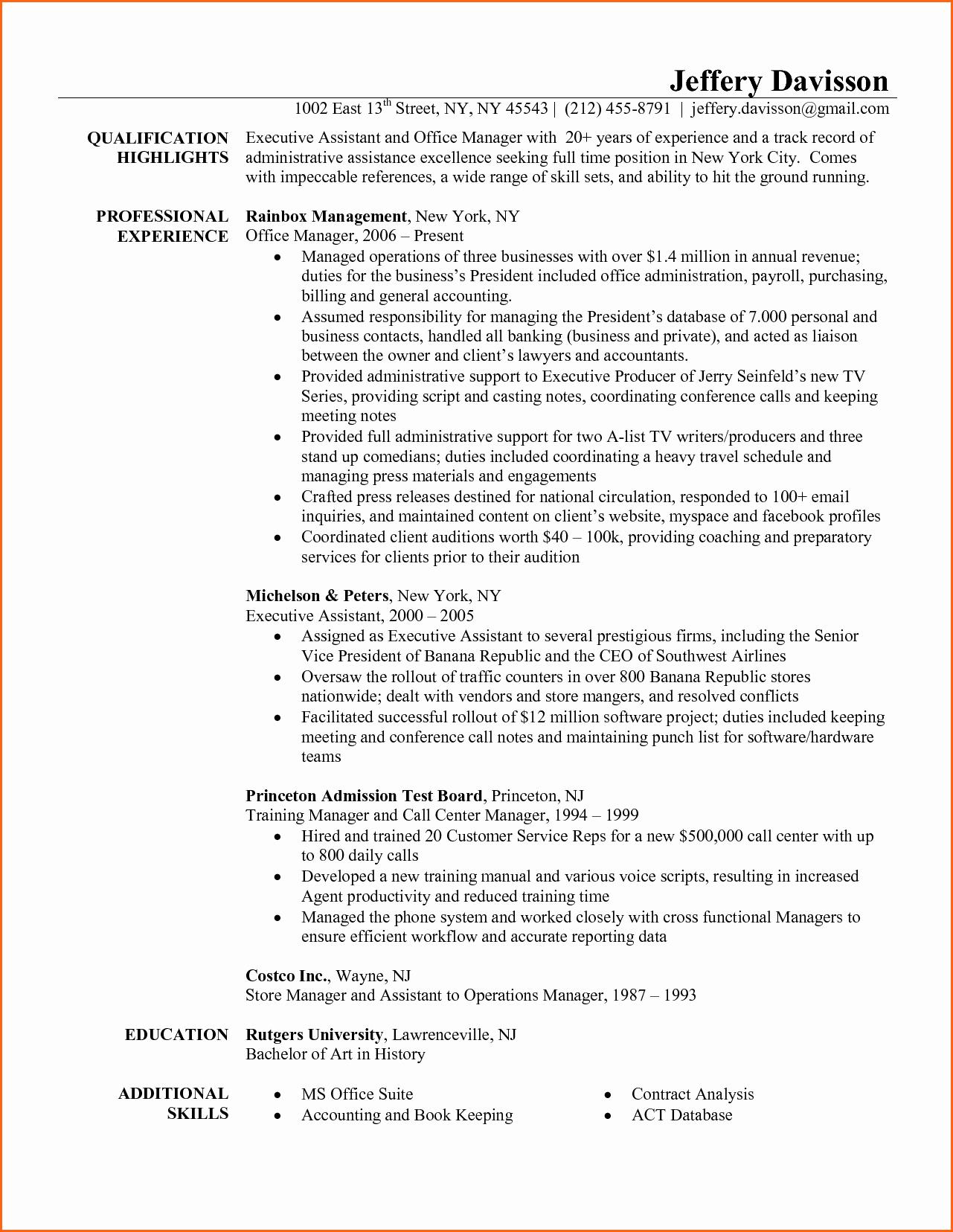 6 Office Manager Sample Resume Bud Template Letter