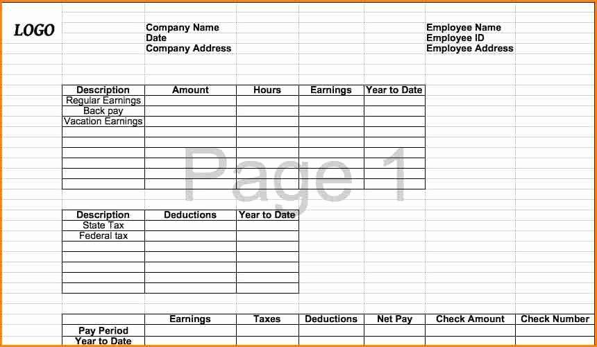 6 Pay Stub Template Microsoft Office